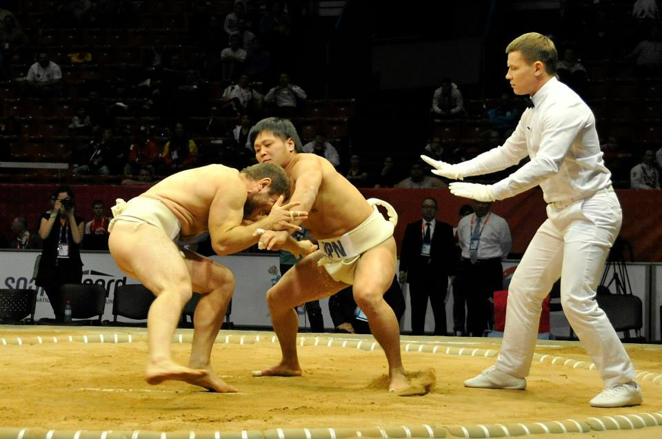 Sumo has proved a popular sport at the World Combat Games in St Petersburg