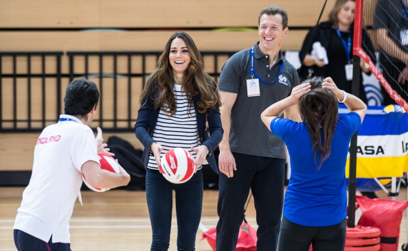 The Duchess of Cambridge is clearly enjoying herself at Sports Aid patron in the Copper Box