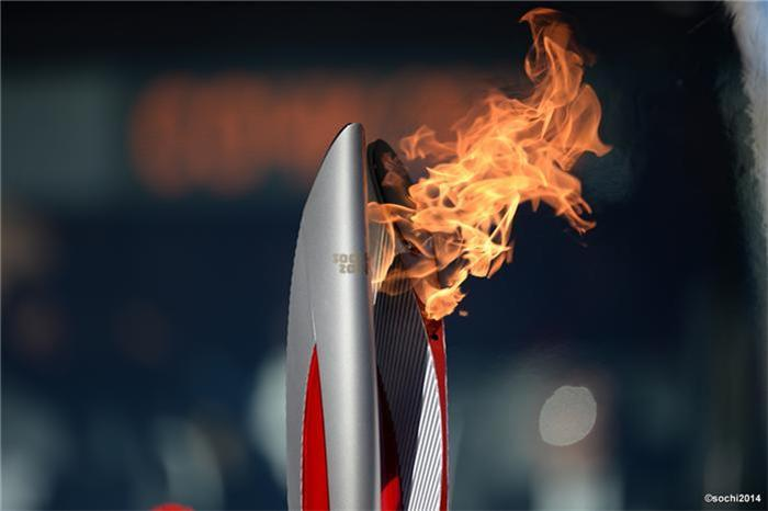 The Sochi 2014 Winter Olympic Torch Relay is currently being transported towards the North Pole