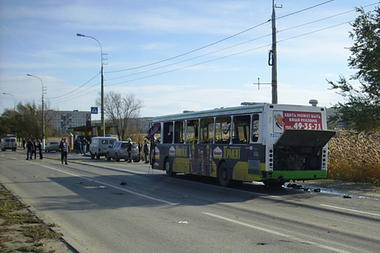 The bombing took place on a bus in Volgograd north of Sochi and is the largest bombing of its kind for almost three years