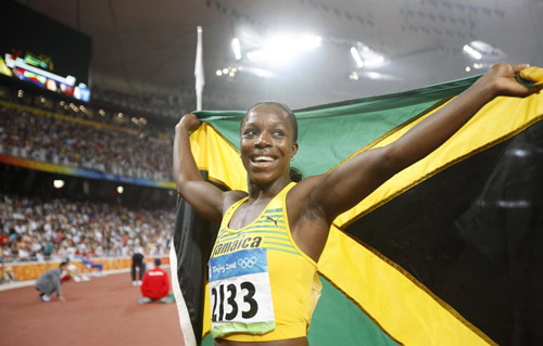 Veronica Campbell-Brown has won three Olympic gold medals, including the 200 metres at Beijing 2008