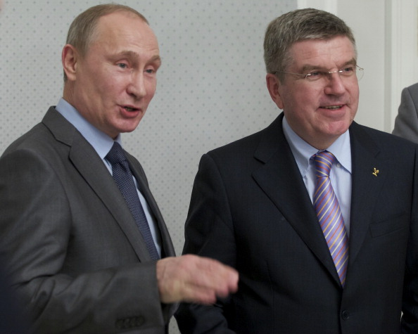 Russian President Vladimir Putin has met Thomas Bach for the first time since the German become the new President of the International Olympic Committee