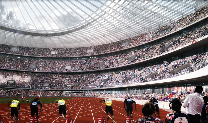The spaceship-like new arena designed by Zaha Hadid to host the athletics during Tokyo 2020 would be very different to the Stadium which staged the 1964 Olympics, the last time they were held in the Japanese capital