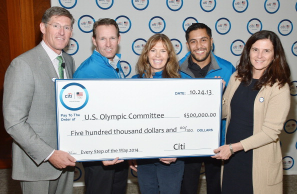 Citi has donated $500,000 Donation to the USOC Every Step of the Way programme