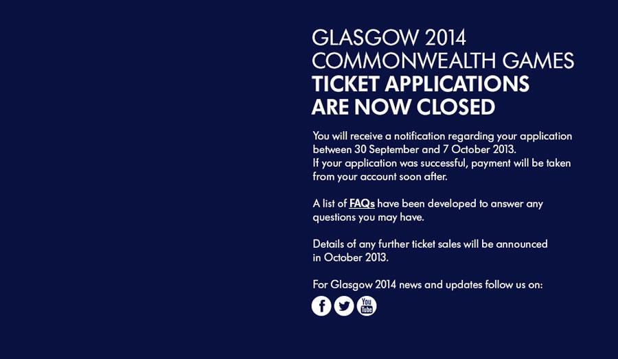 Disappointed fans have been finding out if they have been unsuccessful with their ticket applications for Glasgow 2014