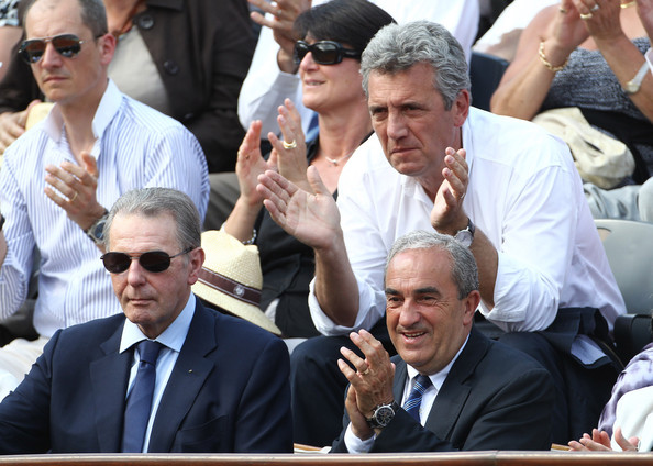 Francophone Jacques Rogge, seen here at Roland Garos in Paris, provided a strong French link with the Olympic Movement