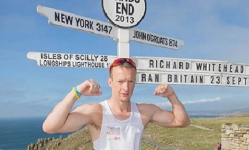 Britain's Richard Whitehead has been voted IPC Athlete of the Month after completing 40 marathons in 40 days