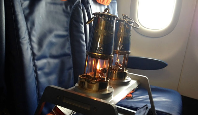 There was a special seat for the Olympic Flame on Aeroflot flight SU 7101 which brought it from Athens to Moscow