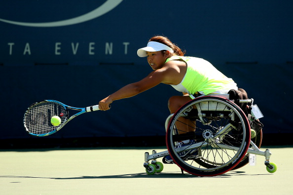 Yui Kamiji won the women's singles event at the NEC Wheelchair Tennis Masters on Monday ©Getty Images
