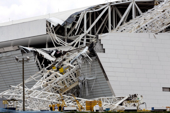 At least two people have died in São Paulo after a crane collapsed at the Arena Corinthians ©Getty Images