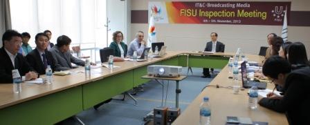 A FISU delegation travelled to Gwangju last week to inspect the IT and media preparations ahead of the 2015 Gwangju Summer Universiade