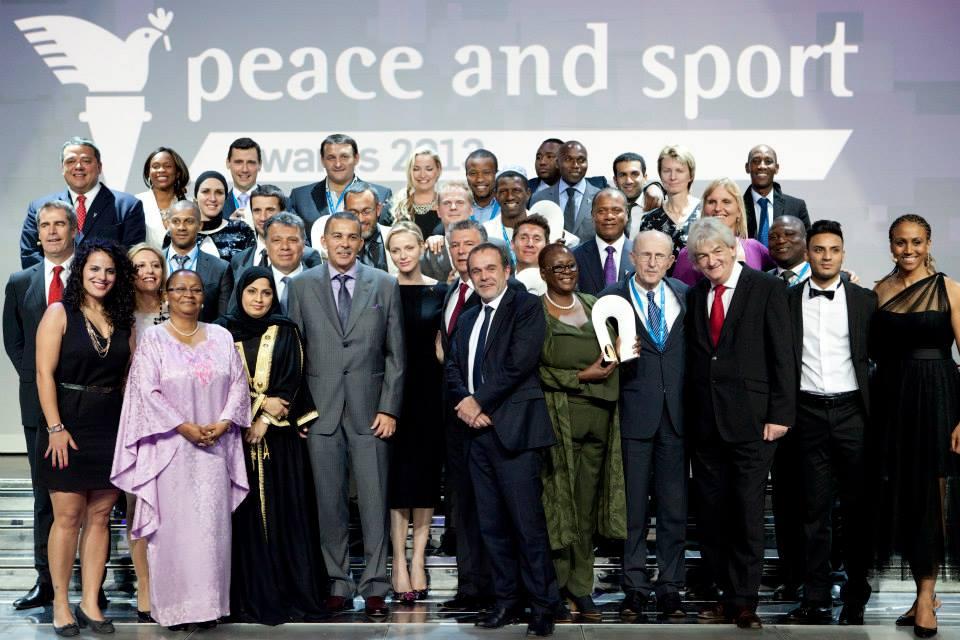 A selection of award winners alongside Princess Charlene of Monaco