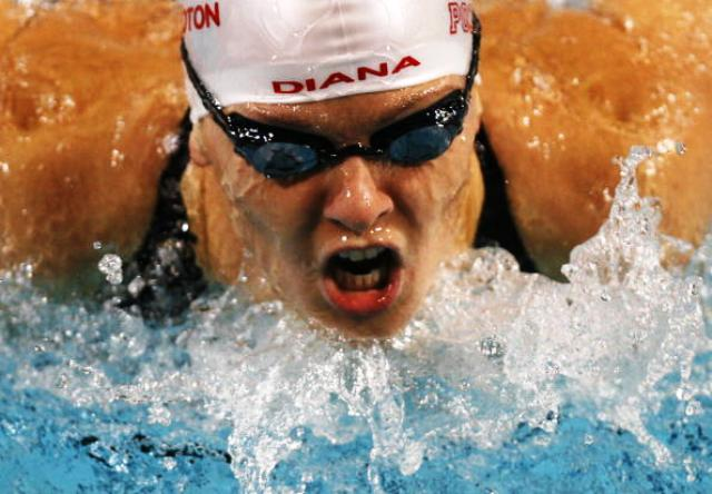 Athens 2004 gold medal winner Otylia Jedrzejczak of Poland is one of the students currently enrolled on the MSA course at RIOU © AFP / Getty Images