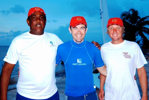 Cayman Islands police fear that hopes of finding Mark Clarke (far left) alive are all but gone