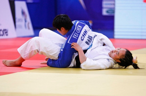 Chen Fei came out on top against compatriot Jia Zhao in an all Chinese affair in the womens under 70kg final