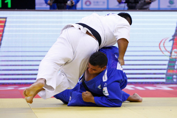 China fittingly had the final word when Zhang Lei beat a Brazillian opponent to win the over 100kg gold