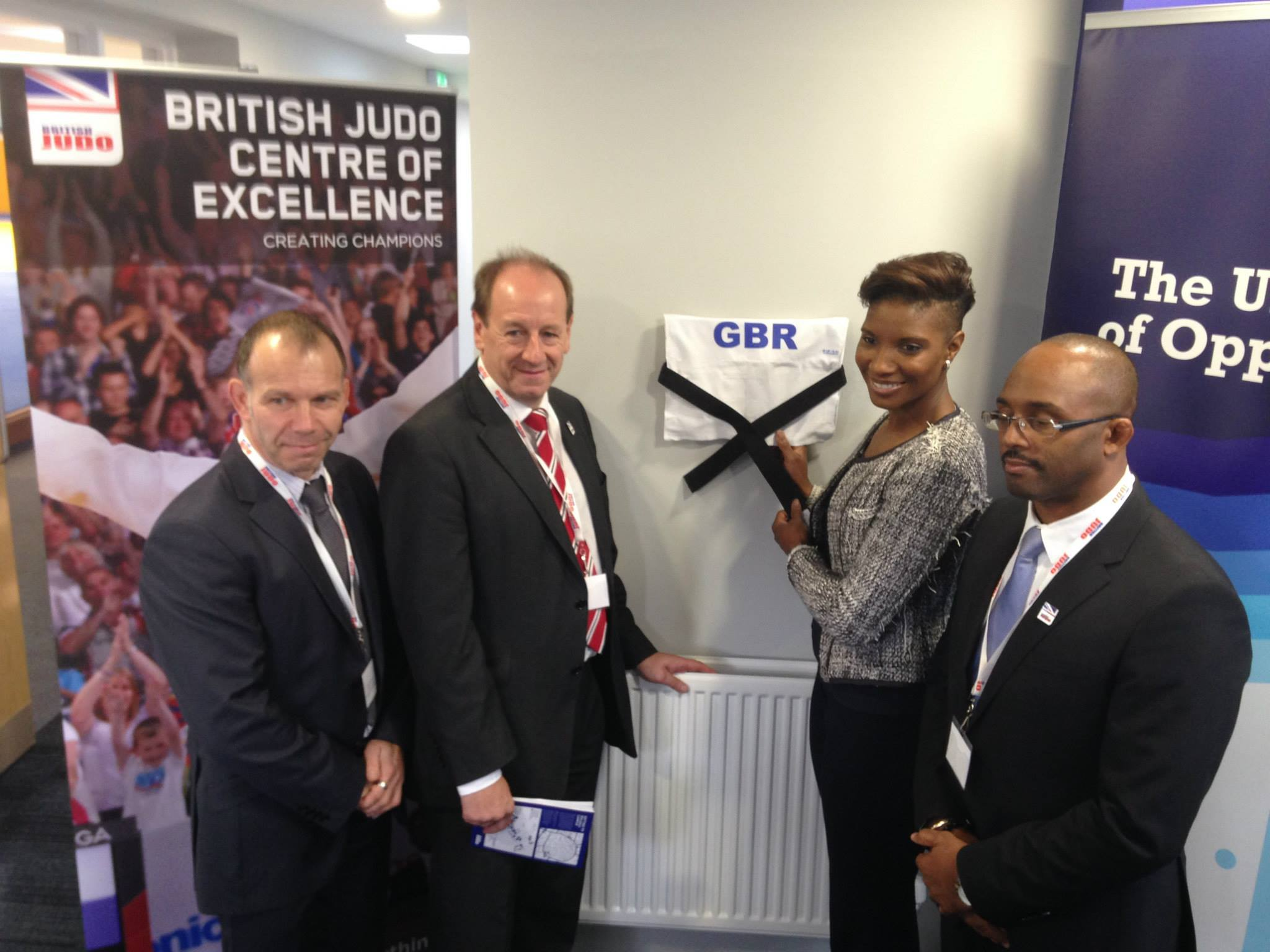 Denise Lewis unveiling the British Judo Centre of Excellence in her home town University of Wolverhampton