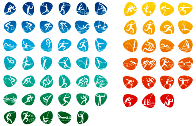 For the first time ever all Olympic and Paralympic sports are represented in the Games pictograms