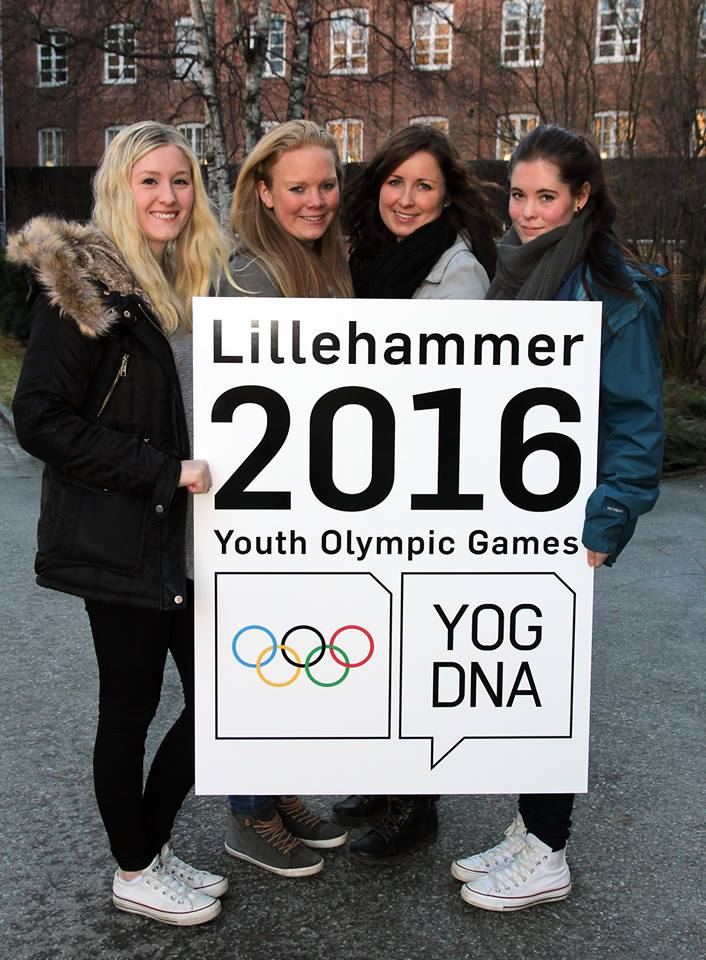 Four students from Gjøvik University College in Norway were tasked with designing the emblem ©Lillehammer 2016
