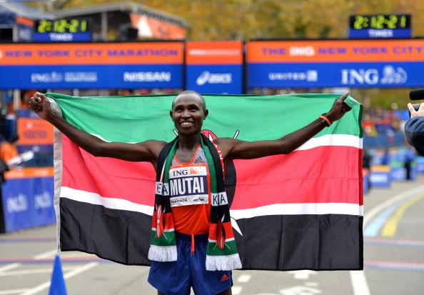 Geoffrey Mutai wins the 2013 New York City Marathon