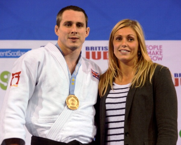 Gibbons with husband Euan Burton after his European Open win in Glasgow last month