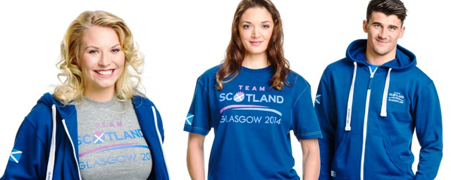 Glasgow 2014 has unveiled the new range of Team Scotland leisurewear which is availbale for fans to buy online and in selected retail stores ©Glasgow 2014