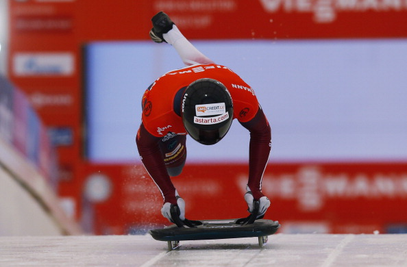 Martin Dukurs on the way to yet another World Cup title as he began the Olympic season in perfect style ©Getty Images