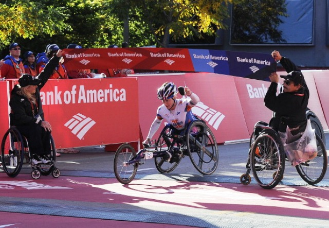McFadden's win in Chicago was the third of four marathon victories this year as she completed the Grand Slam