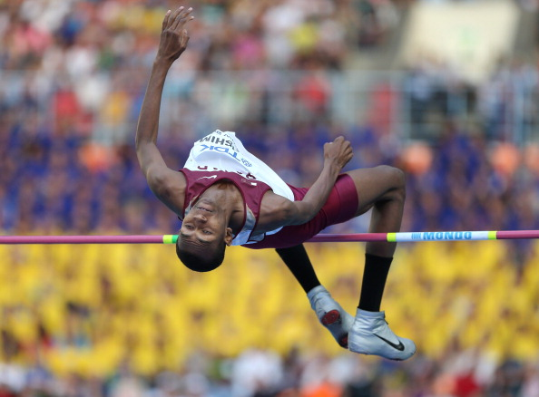 Mutaz Essa Barshim has won the Arab Athlete Award after securing a silver medal in the high jump at the 2013 World Athletics Championships ©Getty Images