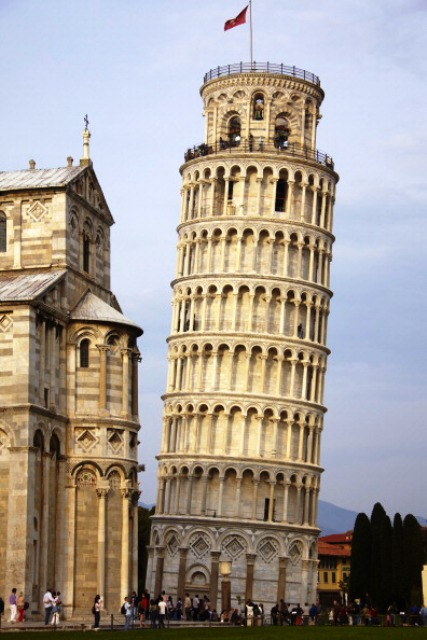 Next stop on the Trentino Torch tour is the city of Pisa © AFP/Getty Images