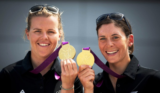 Olympic champions Polly Powrie and Jo Aleh picked up more gold in Muscat at the ISAF World Sailor of the Year Awards
