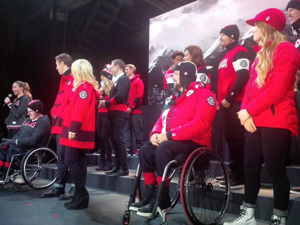 Paralympians and Olympians alike show off the new kit at the launch this week
