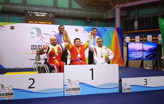 Paralympic champion Xiaofei Gu of China took Asian gold and set a world record on the penultimate day in Kuala Lumpur