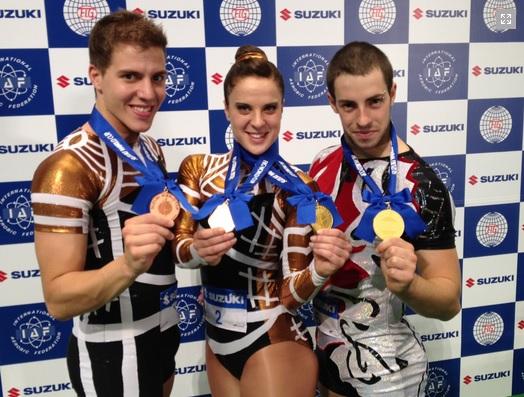 Sara Moreno and Vicente Li have been awarded Spain's Royal Order of Sports Merit ©Spanish Gymnastics Federation