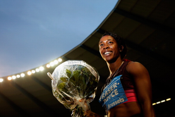 Shelly-Ann Fraser-Pryce, pictured after winning the 100m at the Brussels Diamond League meeting, has won her first World Athlete of the Year award ©Getty Images