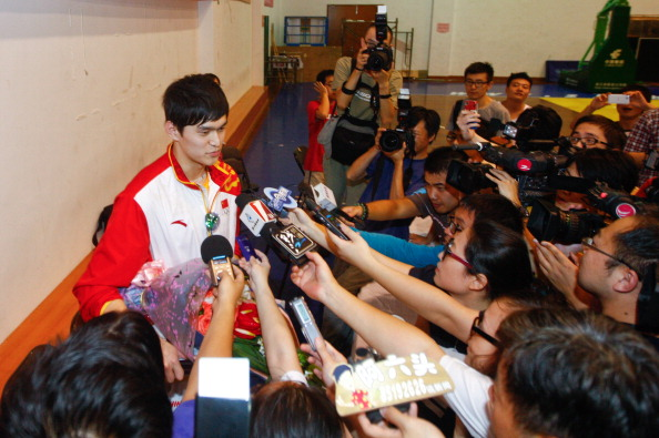 Sun was accused of devoting too much time to media commitments following his double Olympic gold medals at London 2012