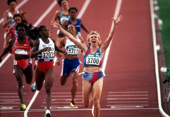 Svetlana Masterkova, who won gold in the 800 and 1,500 metres at the Atlanta 1996 Olympics, has been named among the Class of 2013 being inducted in to the IAAF Hall of Fame ©Bongarts/Getty Images