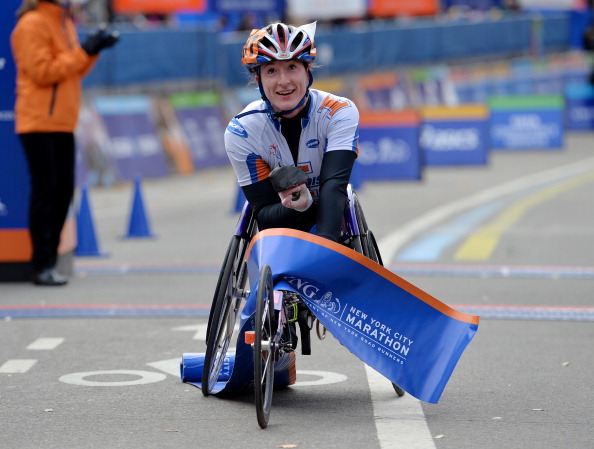 Tatyana McFadden has become the first person ever to capture a Grand Slam of the four major marathons in one year