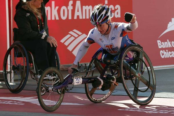 Tatyana McFadden won in Chicago last month and is on course for a record Grand Slam