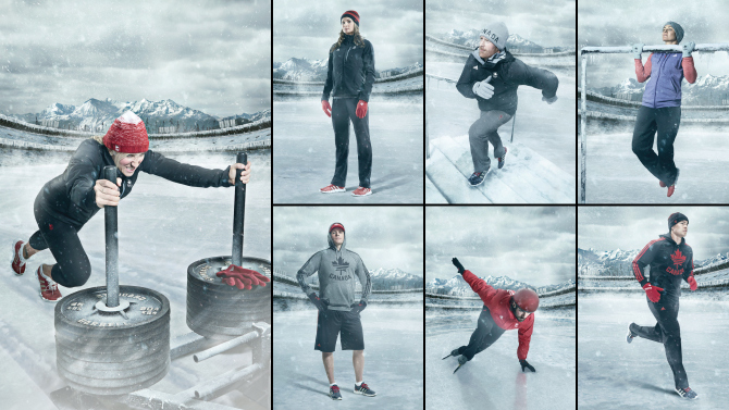The 170 item collection has been marketed by seven Canadian Ollympic hopefuls including Chris Del Bosco Erik Guay Charles Hamelin Kaillie Humphries Meaghan Mikkelson Jon Montgomery and Maëlle Ricker