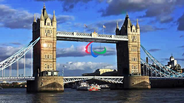 The Agitos was displayed from London's Tower Bridge during the 2012 Games