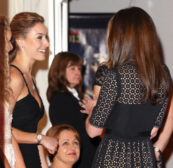 The Duchess of Cambridge meets figures including Olympic skeleton champion Amy Williams and 11 time Paralympic gold medalist, and Baroness, Tanni-Grey Thompson ©Getty Images