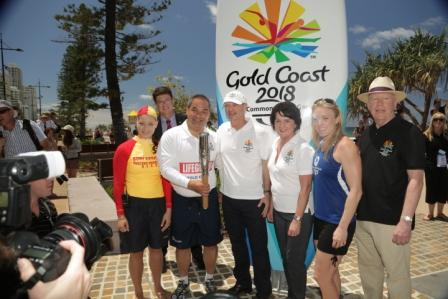 The Queens Baton Relay arrived on the Gold Coast in true Aussie style
