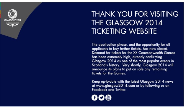 The remaining 76,000 tickets for Glasgow 2014 are going on sale tomorrow morning at 10am GMT