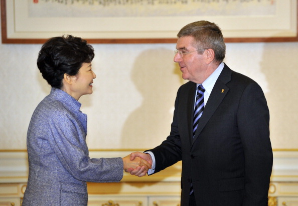 Thomas Bach also visited South Korea's President Park Geun-hye while in Seoul ©AFP/Getty Images