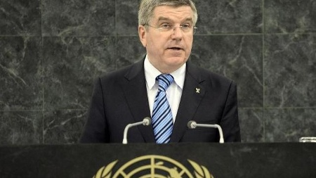Thomas Bach has reiterated the values of the Olympic Truce resolution during at speech at the United Nations general assembly in New York