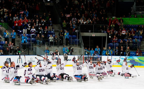 Interest has come a long way in a decade and it is hoped many will follow the progress of the US ice sledge hockey team as they attempt to defend their Paralympic title in Sochi ©Getty Images
