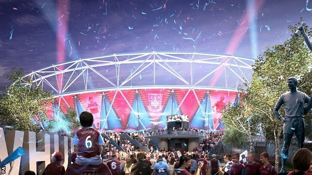 Premier League West Ham United are due to move into the Olympic Stadium in 2016