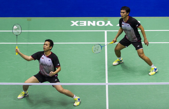 World Champions in the men's doubles Hendra Setiawan and Muhammad Ahsan will be among those chasing home titles in Jakarta ©Getty Images