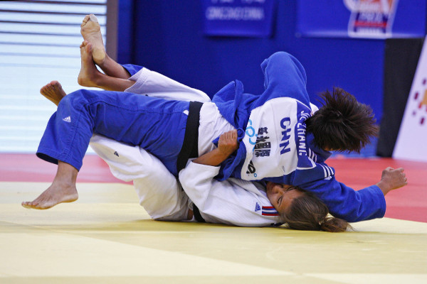 Zhang Jie was one of three Chinese winners on the final day of action in the under 78kg event